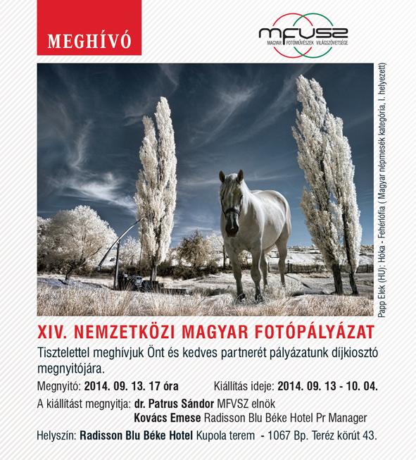 XIV. Nemzetköz Magyar Fotópályázat - díjkiosztó megnyitó