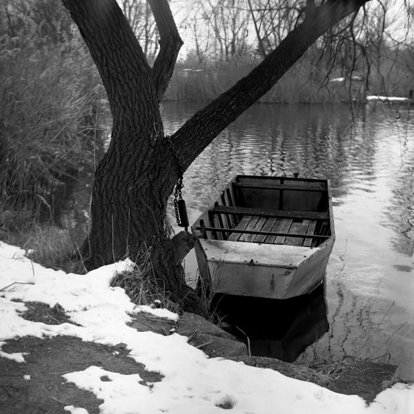 Téli csendélet (Ljubitel 166, Kodak Tri-X fekete-fehér film)