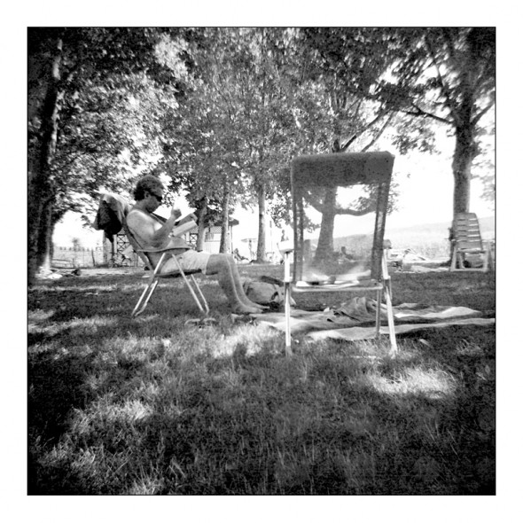 Balaton parti skicc (Diana, Lady Grey B&W film)