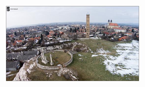 Látkép (Tata, Kálvária-domb, 2015. február 11.)