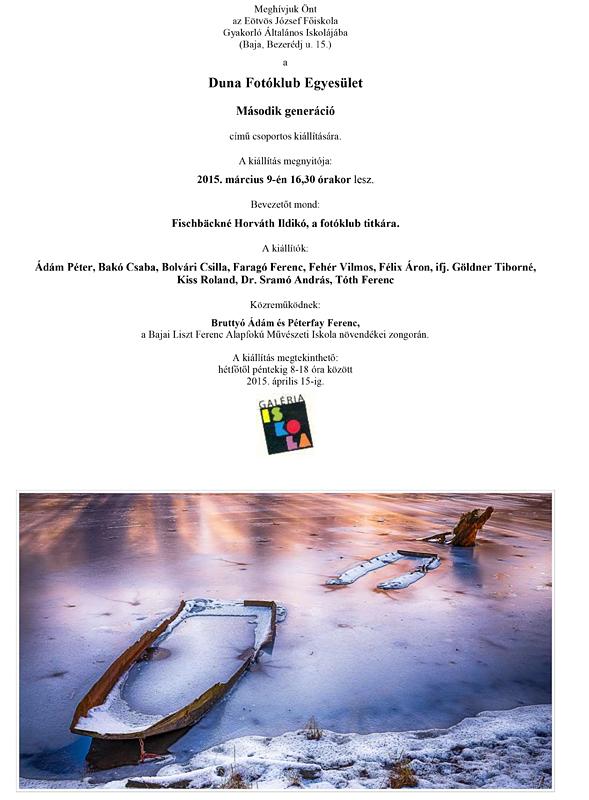 A második generáció - A Duna Fotóklub csoportos kiállítása