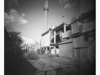 Erőmű (Tatabánya, 2014. május) (Papír lyukkamera, 100 B&W film)