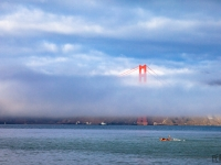 Ködbe bújt híd (San Francisco)